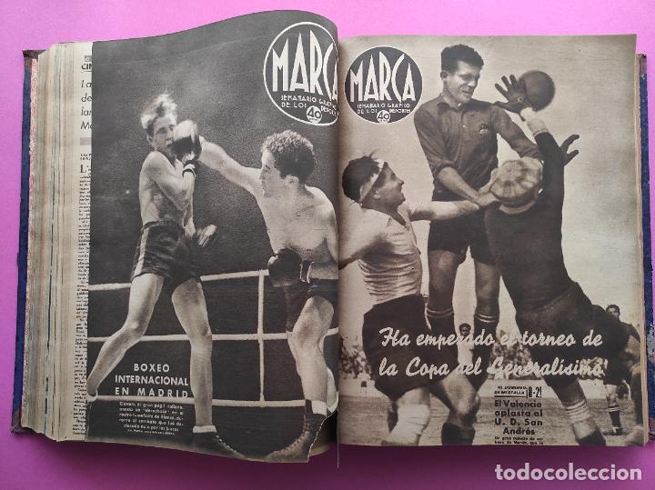 Coleccionismo deportivo: TOMO 53 SEMANARIOS MARCA Nº 48-100 ATLETICO AVIACION CAMPEON LIGA 39/40 RCD ESPAÑOL COPA 1939/1940 - Foto 21 - 240036210