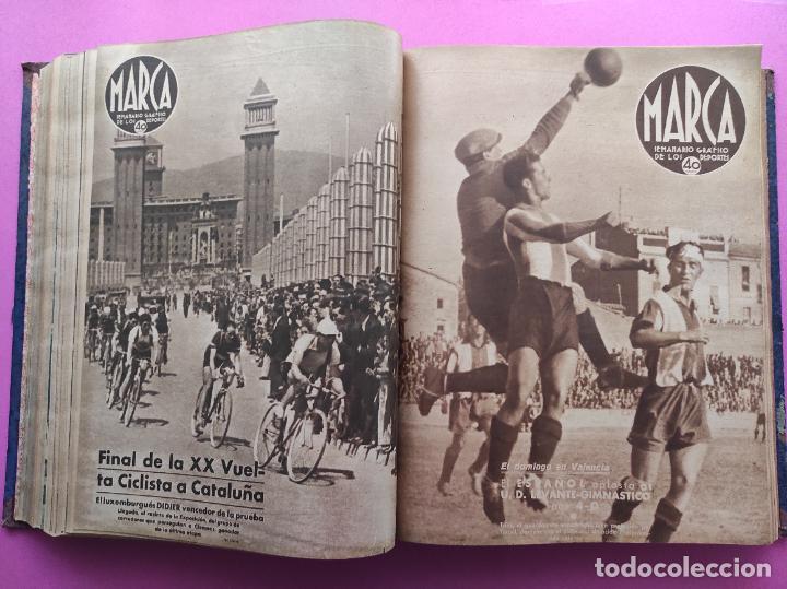 Coleccionismo deportivo: TOMO 53 SEMANARIOS MARCA Nº 48-100 ATLETICO AVIACION CAMPEON LIGA 39/40 RCD ESPAÑOL COPA 1939/1940 - Foto 22 - 240036210