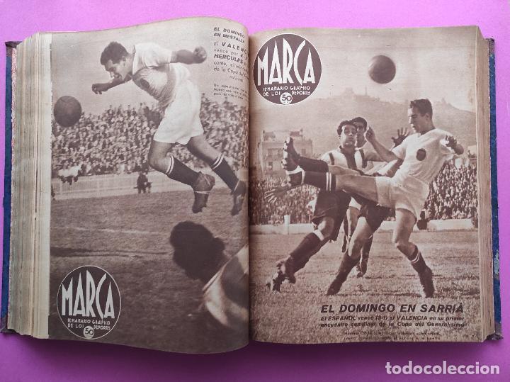 Coleccionismo deportivo: TOMO 53 SEMANARIOS MARCA Nº 48-100 ATLETICO AVIACION CAMPEON LIGA 39/40 RCD ESPAÑOL COPA 1939/1940 - Foto 26 - 240036210