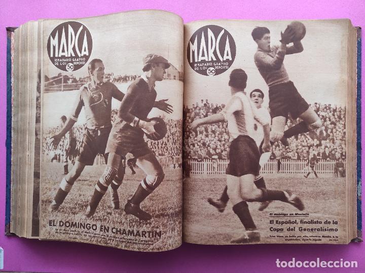 Coleccionismo deportivo: TOMO 53 SEMANARIOS MARCA Nº 48-100 ATLETICO AVIACION CAMPEON LIGA 39/40 RCD ESPAÑOL COPA 1939/1940 - Foto 27 - 240036210