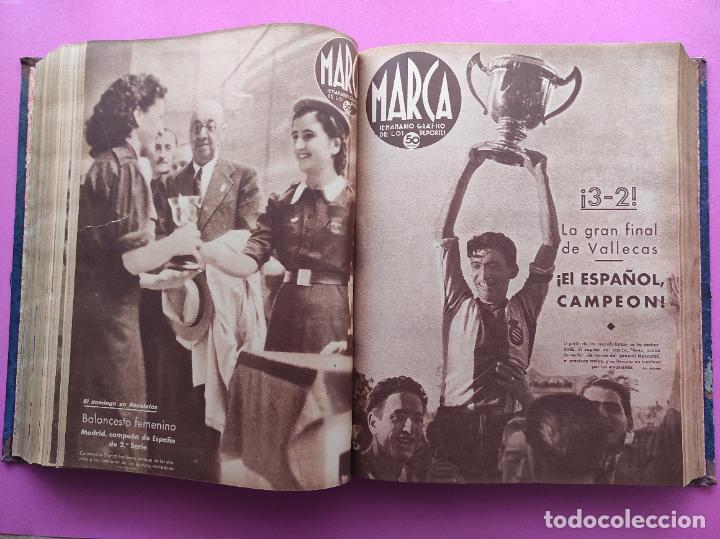 Coleccionismo deportivo: TOMO 53 SEMANARIOS MARCA Nº 48-100 ATLETICO AVIACION CAMPEON LIGA 39/40 RCD ESPAÑOL COPA 1939/1940 - Foto 28 - 240036210