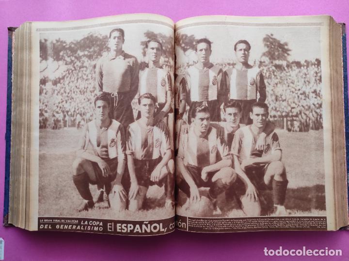 Coleccionismo deportivo: TOMO 53 SEMANARIOS MARCA Nº 48-100 ATLETICO AVIACION CAMPEON LIGA 39/40 RCD ESPAÑOL COPA 1939/1940 - Foto 29 - 240036210
