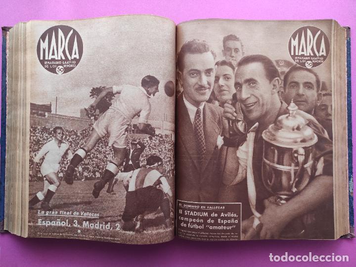 Coleccionismo deportivo: TOMO 53 SEMANARIOS MARCA Nº 48-100 ATLETICO AVIACION CAMPEON LIGA 39/40 RCD ESPAÑOL COPA 1939/1940 - Foto 30 - 240036210