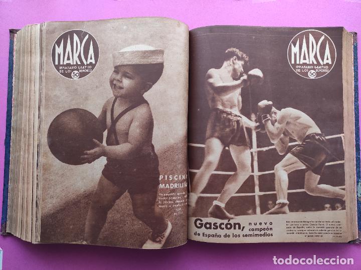 Coleccionismo deportivo: TOMO 53 SEMANARIOS MARCA Nº 48-100 ATLETICO AVIACION CAMPEON LIGA 39/40 RCD ESPAÑOL COPA 1939/1940 - Foto 37 - 240036210