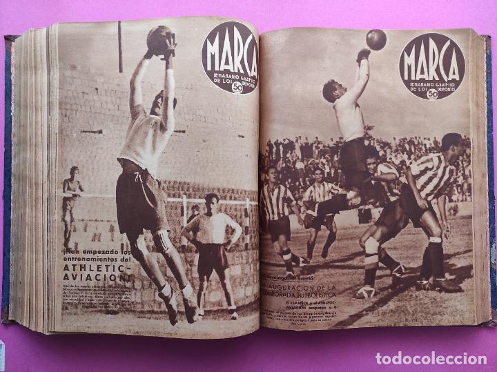 Coleccionismo deportivo: TOMO 53 SEMANARIOS MARCA Nº 48-100 ATLETICO AVIACION CAMPEON LIGA 39/40 RCD ESPAÑOL COPA 1939/1940 - Foto 38 - 240036210