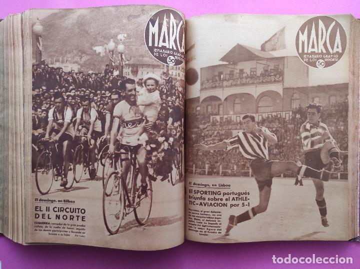 Coleccionismo deportivo: TOMO 53 SEMANARIOS MARCA Nº 48-100 ATLETICO AVIACION CAMPEON LIGA 39/40 RCD ESPAÑOL COPA 1939/1940 - Foto 39 - 240036210