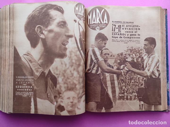 Coleccionismo deportivo: TOMO 53 SEMANARIOS MARCA Nº 48-100 ATLETICO AVIACION CAMPEON LIGA 39/40 RCD ESPAÑOL COPA 1939/1940 - Foto 40 - 240036210