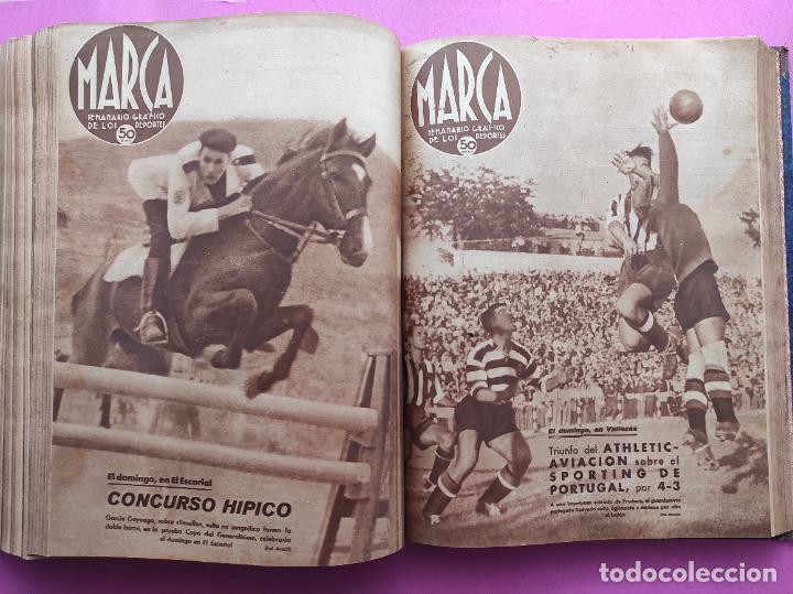 Coleccionismo deportivo: TOMO 53 SEMANARIOS MARCA Nº 48-100 ATLETICO AVIACION CAMPEON LIGA 39/40 RCD ESPAÑOL COPA 1939/1940 - Foto 41 - 240036210