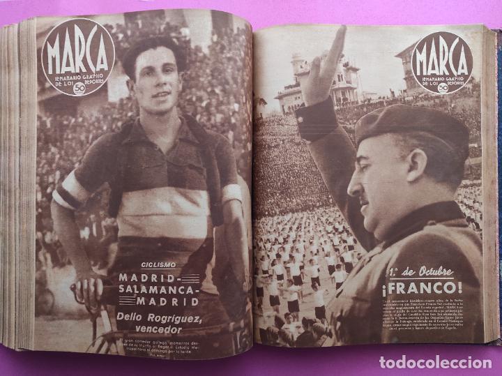Coleccionismo deportivo: TOMO 53 SEMANARIOS MARCA Nº 48-100 ATLETICO AVIACION CAMPEON LIGA 39/40 RCD ESPAÑOL COPA 1939/1940 - Foto 42 - 240036210
