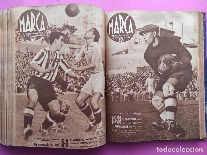 Coleccionismo deportivo: TOMO 53 SEMANARIOS MARCA Nº 48-100 ATLETICO AVIACION CAMPEON LIGA 39/40 RCD ESPAÑOL COPA 1939/1940 - Foto 43 - 240036210