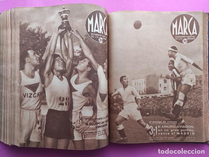 Coleccionismo deportivo: TOMO 53 SEMANARIOS MARCA Nº 48-100 ATLETICO AVIACION CAMPEON LIGA 39/40 RCD ESPAÑOL COPA 1939/1940 - Foto 44 - 240036210