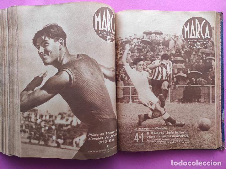 Coleccionismo deportivo: TOMO 53 SEMANARIOS MARCA Nº 48-100 ATLETICO AVIACION CAMPEON LIGA 39/40 RCD ESPAÑOL COPA 1939/1940 - Foto 45 - 240036210