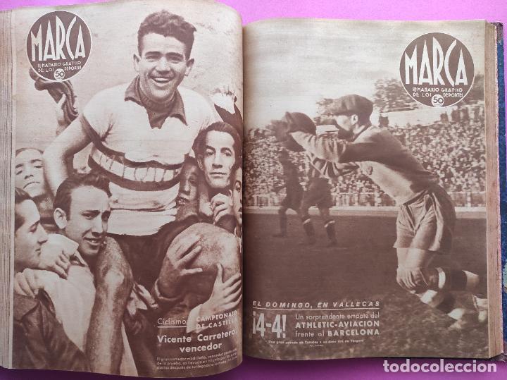 Coleccionismo deportivo: TOMO 53 SEMANARIOS MARCA Nº 48-100 ATLETICO AVIACION CAMPEON LIGA 39/40 RCD ESPAÑOL COPA 1939/1940 - Foto 46 - 240036210