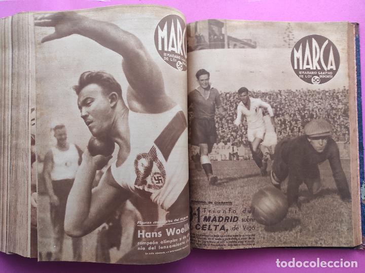 Coleccionismo deportivo: TOMO 53 SEMANARIOS MARCA Nº 48-100 ATLETICO AVIACION CAMPEON LIGA 39/40 RCD ESPAÑOL COPA 1939/1940 - Foto 47 - 240036210