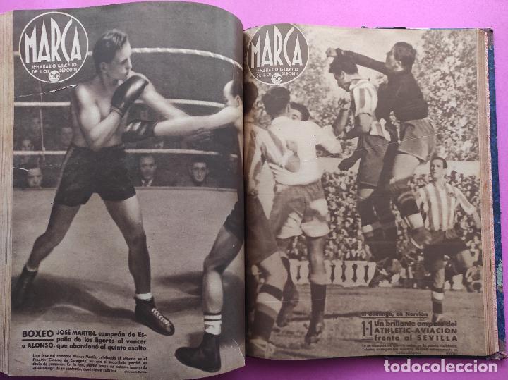Coleccionismo deportivo: TOMO 53 SEMANARIOS MARCA Nº 48-100 ATLETICO AVIACION CAMPEON LIGA 39/40 RCD ESPAÑOL COPA 1939/1940 - Foto 50 - 240036210