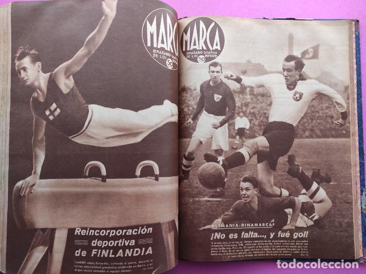 Coleccionismo deportivo: TOMO 53 SEMANARIOS MARCA Nº 48-100 ATLETICO AVIACION CAMPEON LIGA 39/40 RCD ESPAÑOL COPA 1939/1940 - Foto 52 - 240036210