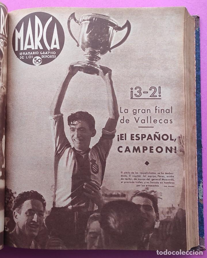 TOMO 53 SEMANARIOS MARCA Nº 48-100 ATLETICO AVIACION CAMPEON LIGA 39/40 RCD ESPAÑOL COPA 1939/1940 (Coleccionismo Deportivo - Revistas y Periódicos - Marca)
