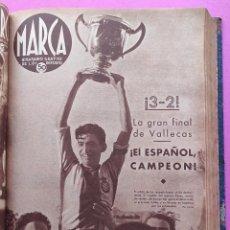 Coleccionismo deportivo: TOMO 53 SEMANARIOS MARCA Nº 48-100 ATLETICO AVIACION CAMPEON LIGA 39/40 RCD ESPAÑOL COPA 1939/1940. Lote 240036210