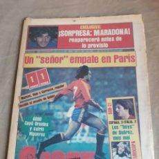 Coleccionismo deportivo: SPORT 6 OCTUBRE 1983 .FRANCIA 1 ESPAÑA 1. MARADONA REAPARECERA PRONTO .QUINI - GODO -LUIS ARAGONES .. Lote 240171425