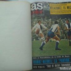 Coleccionismo deportivo: ENORME TOMO CON 21 REVISTAS DE AS COLOR , DEL Nº 33 ( 4 ENERO 1972 ) AL 57 ( 20 JUNIO 1972 ) ENCUADE. Lote 254469515