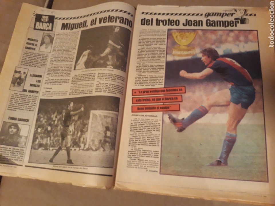 Coleccionismo deportivo: SPORT 23 AGOSTO 1983 . DIARIO DEL GAMPER - ESTRENO BARCA 84 - JULIO IGLESIAS AMIGO DE MARADONA. - Foto 2 - 240255555