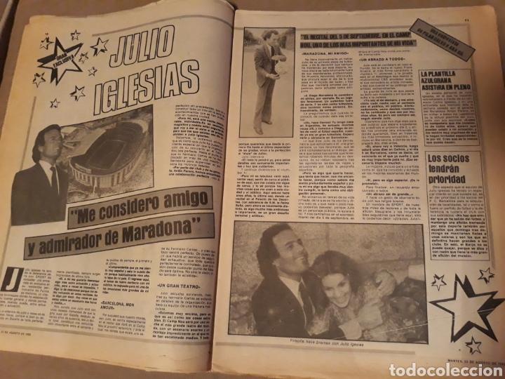 Coleccionismo deportivo: SPORT 23 AGOSTO 1983 . DIARIO DEL GAMPER - ESTRENO BARCA 84 - JULIO IGLESIAS AMIGO DE MARADONA. - Foto 5 - 240255555