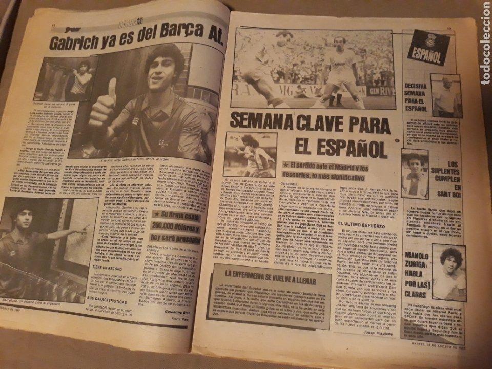 Coleccionismo deportivo: SPORT 23 AGOSTO 1983 . DIARIO DEL GAMPER - ESTRENO BARCA 84 - JULIO IGLESIAS AMIGO DE MARADONA. - Foto 6 - 240255555