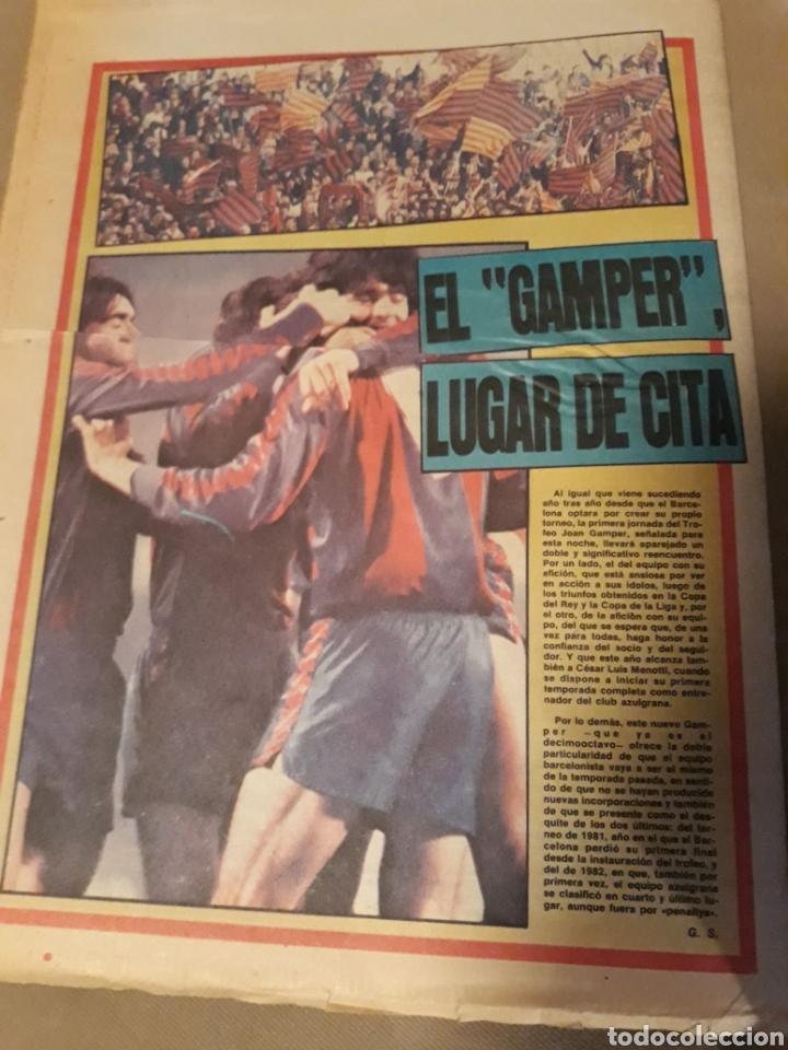 Coleccionismo deportivo: SPORT 23 AGOSTO 1983 . DIARIO DEL GAMPER - ESTRENO BARCA 84 - JULIO IGLESIAS AMIGO DE MARADONA. - Foto 9 - 240255555