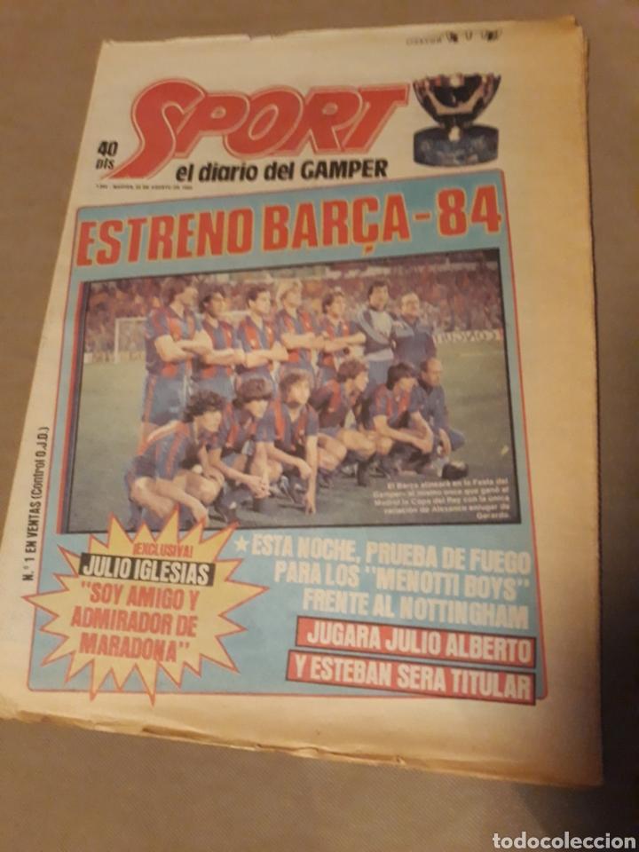 SPORT 23 AGOSTO 1983 . DIARIO DEL GAMPER - ESTRENO BARCA 84 - JULIO IGLESIAS AMIGO DE MARADONA. (Coleccionismo Deportivo - Revistas y Periódicos - Sport)