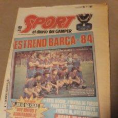Coleccionismo deportivo: SPORT 23 AGOSTO 1983 . DIARIO DEL GAMPER - ESTRENO BARCA 84 - JULIO IGLESIAS AMIGO DE MARADONA.. Lote 240255555
