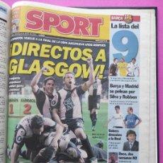 Coleccionismo deportivo: TOMO DIARIO SPORT RCD ESPANYOL SUBCAMPEON COPA UEFA TEMPORADA 06/07 ESPAÑOL 2006 2007 FINALISTA. Lote 240265410