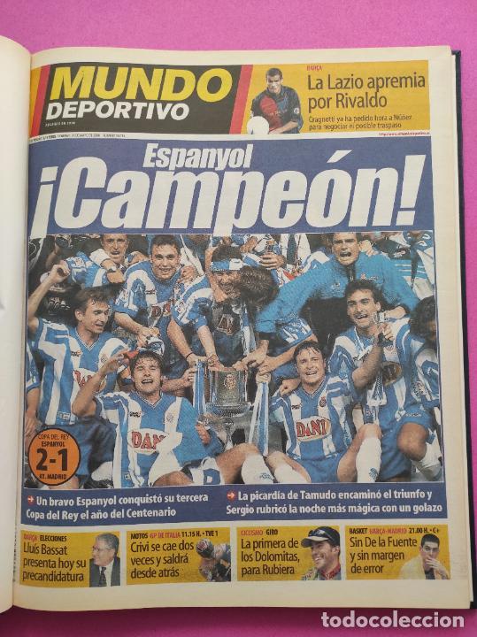 TOMO MUNDO DEPORTIVO RCD ESPANYOL CAMPEON COPA DEL REY TEMPORADA 99/00 ESPAÑOL 1999 2000 CENTENARIO (Coleccionismo Deportivo - Revistas y Periódicos - Mundo Deportivo)