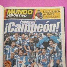 Coleccionismo deportivo: TOMO MUNDO DEPORTIVO RCD ESPANYOL CAMPEON COPA DEL REY TEMPORADA 99/00 ESPAÑOL 1999 2000 CENTENARIO. Lote 240327760