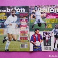 Coleccionismo deportivo: LOTE 2 REVISTA DON BALON Nº 760-761 ESPECIAL RESUMEN LIGA 1989/1990 - POSTER EQUIPO DEL AÑO 89/90. Lote 240425165