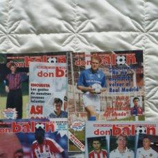 Colecionismo desportivo: LOTE DE CINCO REVISTAS DON BALÓN 1012 1013 1015 1016 1020 - AÑO 1995 - ZARAGOZA - ALBACETE - BÉTIS. Lote 240449275