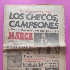 Coleccionismo deportivo: DIARIO MARCA CHECOSLOVAQUIA CAMPEON EURO 76 - CZECH REPUBLIC WINNER EUROCOPA 1976 EC - REAL JAEN. Lote 240469595