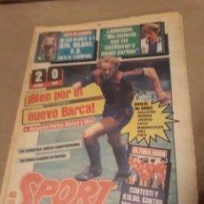 Collectionnisme sportif: SPORT 3 NOVIEMBRE 1983 RECOPA BARCA 2 NEC 0 - BILBAO 0 LIVERPOOL 1 - SOLOZABAL -AZKARGORTA. Lote 240542155