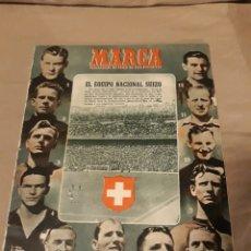 Coleccionismo deportivo: MARCA SEMANARIO GRAFICO DE LOS DEPORTES N° 439 . 20 DE FEBRERO DE 1951 ESPAÑA 6 SUIZA 3 .. Lote 240546360