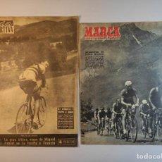 Coleccionismo deportivo: MARCA AÑO 1954 Y VIDA DEPORTIVA 1955. Lote 240736760