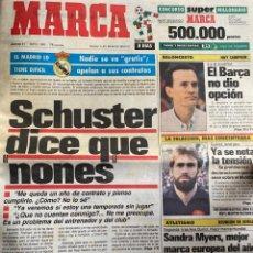 Colecionismo desportivo: DIARIO MARCA, 31 MAYO 1990 (SCHUSTER) FATAN 8 DÍAS MUNDIAL ITALIA (SELECCIÓN COLOMBIA). Lote 240837230