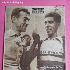 Coleccionismo deportivo: VIDA DEPORTIVA Nº 463 1954 TOUR FRANCIA 54 BOBET BAHAMONTES - DEPORTIVO SAN LORENZO TERCERA DIVISION. Lote 240970910