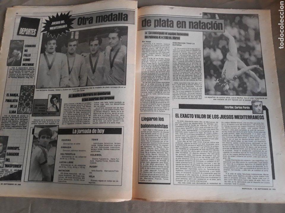 Coleccionismo deportivo: SPORT 7 SEPTIEMBRE 1983 .JULIO IGLESIAS Y MARADONA : DUO TRIOMFANT -JUEGOS MEDITERRÁNEO LAURA MUÑOZ - Foto 4 - 241025355