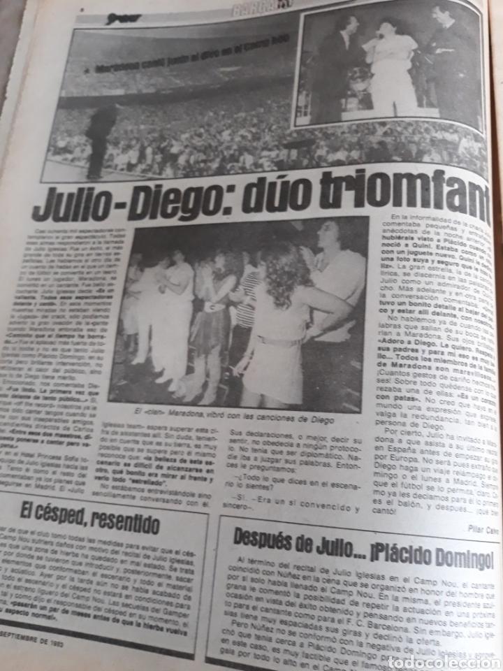 Coleccionismo deportivo: SPORT 7 SEPTIEMBRE 1983 .JULIO IGLESIAS Y MARADONA : DUO TRIOMFANT -JUEGOS MEDITERRÁNEO LAURA MUÑOZ - Foto 2 - 241025355