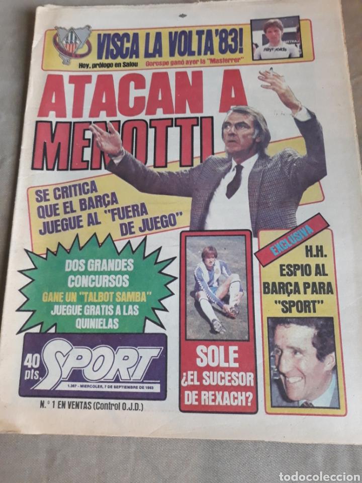 SPORT 7 SEPTIEMBRE 1983 .JULIO IGLESIAS Y MARADONA : DUO TRIOMFANT -JUEGOS MEDITERRÁNEO LAURA MUÑOZ (Coleccionismo Deportivo - Revistas y Periódicos - Sport)