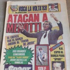 Coleccionismo deportivo: SPORT 7 SEPTIEMBRE 1983 .JULIO IGLESIAS Y MARADONA : DUO TRIOMFANT -JUEGOS MEDITERRÁNEO LAURA MUÑOZ. Lote 241025355