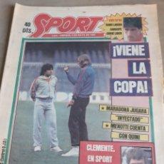 Coleccionismo deportivo: SPORT 6 MAYO 1983 MARADONA JUGARA INYECTADO - FERNANDO MARTIN Y JIMENEZ- ESPAÑOL ,LOS 11 DE MAGU. Lote 241027065