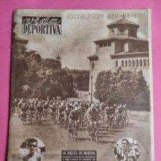 Coleccionismo deportivo: VIDA DEPORTIVA Nº 468 1954 LIGA 54/55 HERCULES - DEPOR - UD LAS PALMAS - CICLISMO VOLTA CATALUNYA. Lote 241027845