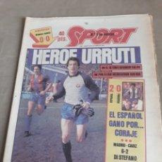 Coleccionismo deportivo: SPORT 3 DE OCTUBRE 1983 . MURCIA 0 BARCELONA 0 - R.MADRID 6 CADIZ 2 - JUPITER 0 HORTA 1. Lote 241198155