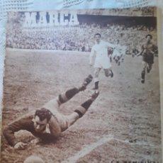 Coleccionismo deportivo: REVISTA MARCA 1950 . SEMIFINAL COPA R.MADRID 2 VALLADOLID 2 .BILBAO 5 VALENCIA 1 .PICHON SOMONTES. Lote 241228095