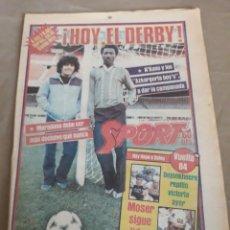 Coleccionismo deportivo: SPORT 22 ABRIL 1984 - HOY EL DERBY . BARCELONA VS ESPAÑOL - GURUCETA : LA MALDICION DEL CAMP NOU. Lote 241461615
